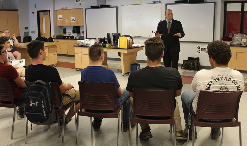 Congressman Reed visits Addison HS
